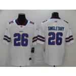 NFL Buffalo Bills #26 Devin Singletary White Vapor Untouchable Limited Jersey