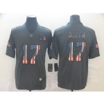 NFL Buffalo Bills Josh Allen #17 Grey Salute To Service USA Flag Fashion Limited Jersey
