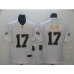 NFL Buffalo Bills Josh Allen #17 White Gold Vapor Untouchable Limited Jersey