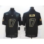 Nike Bills #17 Josh Allen Black 2020 Salute To Service Limited Jersey