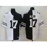 Nike Bills #17 Josh Allen Black And White Split Vapor Untouchable Limited Jersey