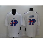 Nike Bills #17 Josh Allen White Shadow Logo Limited Jersey
