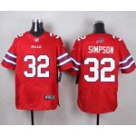 Nike Bills #32 O.J. Simpson Red Men's Vapor Untouchable Limited Jersey