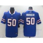 Buffalo Bills #50 Gregory Rousseau Blue Vapor Limited Jersey