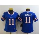 Women Bills #11 Cole Beasley Blue Limited Jersey