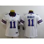 Women Bills #11 Cole Beasley White Vapor Untouchable Limited Jersey