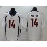 NFL Broncos Courtland Sutton #14 White Vapor Untouchable Limited Jersey