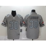 NFL Broncos #30 Phillip Lindsay 2019 Gray Gridiron Gray Vapor Untouchable Limited Jersey