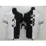 NFL Denver Broncos #3 Drew Lock Men's Black V White Peace Split Nike Vapor Untouchable Limited Jersey