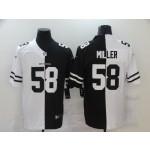 NFL Denver Broncos #58 Von Miller Men's Black V White Peace Split Nike Vapor Untouchable Limited Jersey