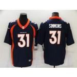 Denver Broncos #31 Justin Simmons Blue Vapor Limited Jersey