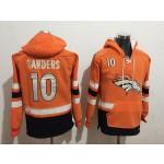 NFL Denver Broncos #10 Emmanuel Sanders Orange All Stitched Hooded Sweatshirt