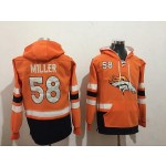 NFL Denver Broncos #58 Von Miller Orange All Stitched Hooded Sweatshirt