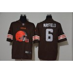 NFL Browns #6 Baker Mayfield Brown Team Big Logo Vapor Untouchable Limited Jersey