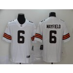 NFL Browns #6 Baker Mayfield White Vapor Untouchable Limited Jersey