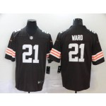 NFL Cleveland Browns Ward #21 Brown Vapor Untouchable Limited Jersey
