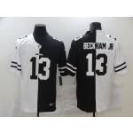 NFL Cleveland Browns #13 Odell Beckham Jr. Men's Black V White Peace Split Nike Vapor Untouchable Limited Jersey