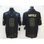 Nike Browns #6 Baker Mayfield Black 2020 Salute To Service Limited Jersey