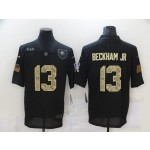 Nike Browns #13 Odell Beckham Jr. Black 2020 Salute To Service Limited Jersey