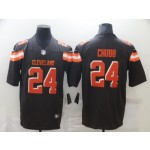 Nike Browns #24 Nick Chubb Brown Vapor Untouchable Limited Jersey