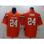 Nike Browns #24 Nick Chubb Orange Vapor Untouchable Limited Jersey