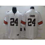 Nike Browns #24 Nick Chubb White 2020 New Vapor Untouchable Limited Jersey