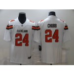 Nike Browns #24 Nick Chubb White Vapor Untouchable Limited Jersey