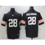 Cleveland Browns #28 Jeremiah Owusu-Koramoah Brown Vapor Limited Jersey
