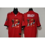 NFL Tampa Bay Buccaneers #12 Tom Brady Red Player Logo Vapor Untouchable Limited Jersey