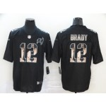 NFL Tampa Bay Buccaneers #12 Tom Brady Black Statue Of Liberty Limited Jersey