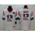 NFL Tampa Bay Buccaneers #12 Tom Brady White Salute To Service USA Flag Fashion Limited Jersey