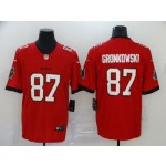 NFL Tampa Bay Buccaneers Gronkowski #87 Red New Vapor Untouchable Limited Jersey
