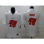Nike Buccaneers #12 Tom Brady White Shadow Logo Limited Jersey