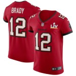 Men's Tampa Bay Buccaneers #12 Tom Brady Red Super Bowl LV 2021 Vapor Untouchable Limited NFL Jersey
