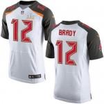 Men's Tampa Bay Buccaneers #12 Tom Brady White Super Bowl LV 2021 Legend II Jersey