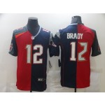 Nike Buccaneers & Patriots #12 Tom Brady Men's Red Navy Blue Limited NFL 2020-2021 Jersey