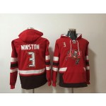 NFL Tampa Bay Buccaneers #3 Jameis Winston Red All Stitched Hooded Sweatshirt