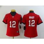 Women Nike Buccaneers #12 Tom Brady Red New 2020 Vapor Untouchable Limited Jersey