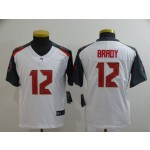 Youth Buccaneers #12 Tom Brady White Vapor Untouchable Limited Jersey