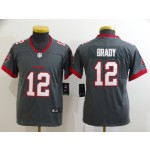 Youth Nike Buccaneers #12 Tom Brady Gray New 2020 Vapor Untouchable Limited Jersey