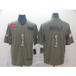 NFL Cardinals #1 Kyler Murray 2019 Olive Camo Salute To Service Limited Jersey