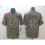 NFL Cardinals #40 Pat Tillman 2019 Olive Camo Salute To Service Limited Jersey