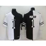 Nike Cardinals #1 Kyler Murray Black And White Split Vapor Untouchable Limited Jersey
