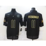 Nike Cardinals #11 Larry Fitzgerald Black 2020 Salute To Service Limited Jersey