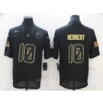 Nike Chargers #10 Justin Herbert Black 2020 Salute To Service Limited Jersey