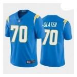 Men's Los Angeles Charger #70 Rashawn Slater Blue 2021 NFL Draft Vapor Limited Jersey