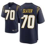 Men's Los Angeles Charger #70 Rashawn Slater Navy 2021 NFL Draft Alternate Game Jersey