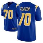Men's Los Angeles Charger #70 Rashawn Slater Royal Blue 2021 NFL Draft Vapor Limited Jersey