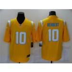 Los Angeles Chargers #10 Justin Herbert 2021 Gold Inverted Limited Jersey