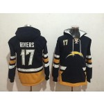 NFL San Diego Chargers #17 Philip Rivers Navy Blue All Stitched Hooded Sweatshirt
